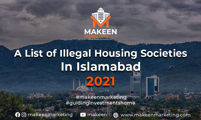 A List of Illegal Housing Societies in Islamabad 2021